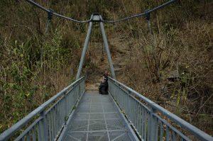 Cirque de Mafate :: the bridge at 368m above the Rivière des Galets