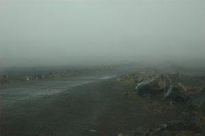 le Volcan :: Plaine des Sables in clouds