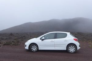 le Volcan :: our very brave hired diesel Peugeot 207+